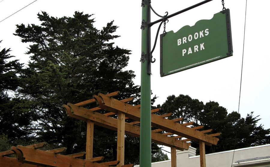 Brooks Park planter boxes