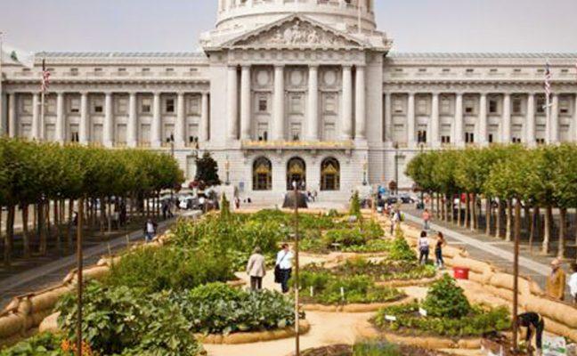 Civic Center Plaza Victory Garden