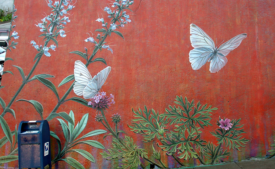 Mona Caron Botanical Mural
